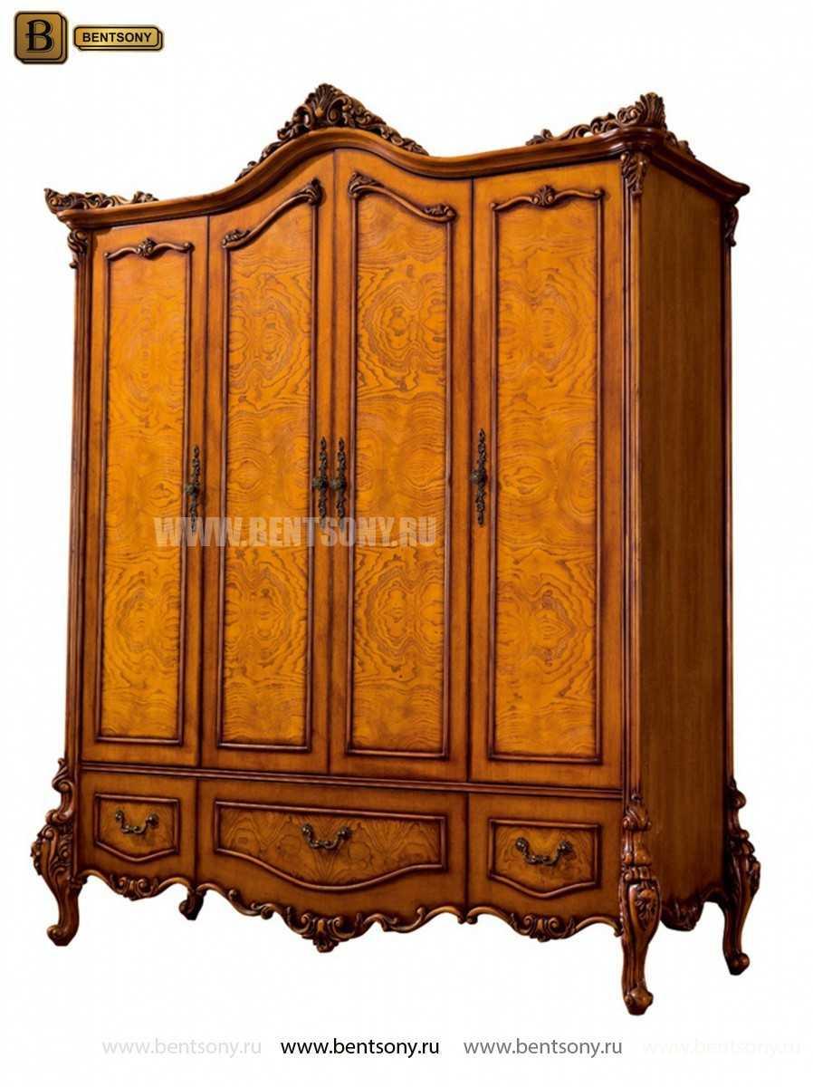 Шкаф 4-х дверный Дакота (Массив дерева, Классика) каталог