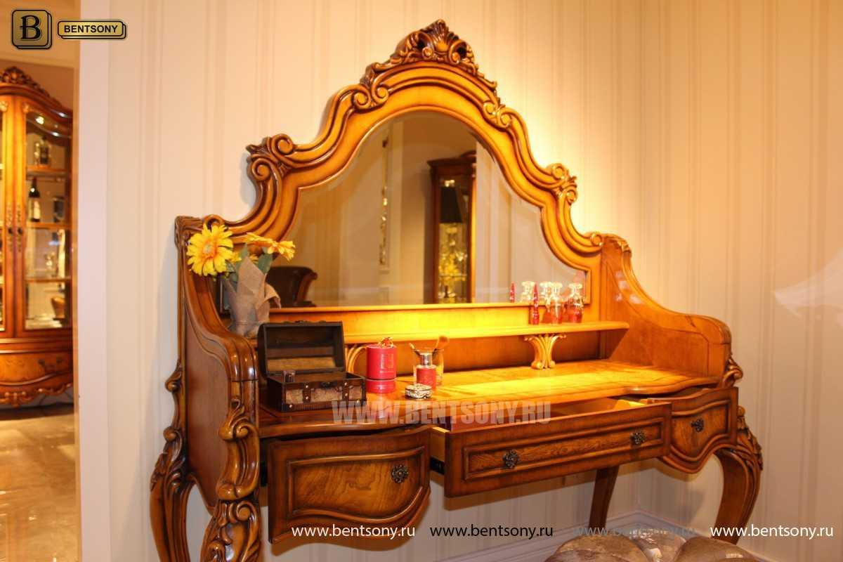 Стол туалетный Дакота с зеркалом (Классика, массив дерева) каталог мебели с ценами