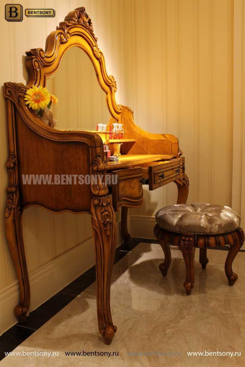 Стол туалетный Дакота с зеркалом (Классика, массив дерева) изображение