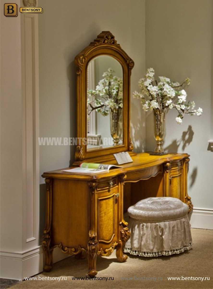 Стол туалетный Дакота B с зеркалом (Массив дерева, классика) для квартиры