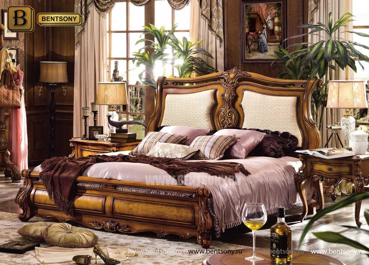 Спальня Дакота D (Классика, массив дерева) в интерьере