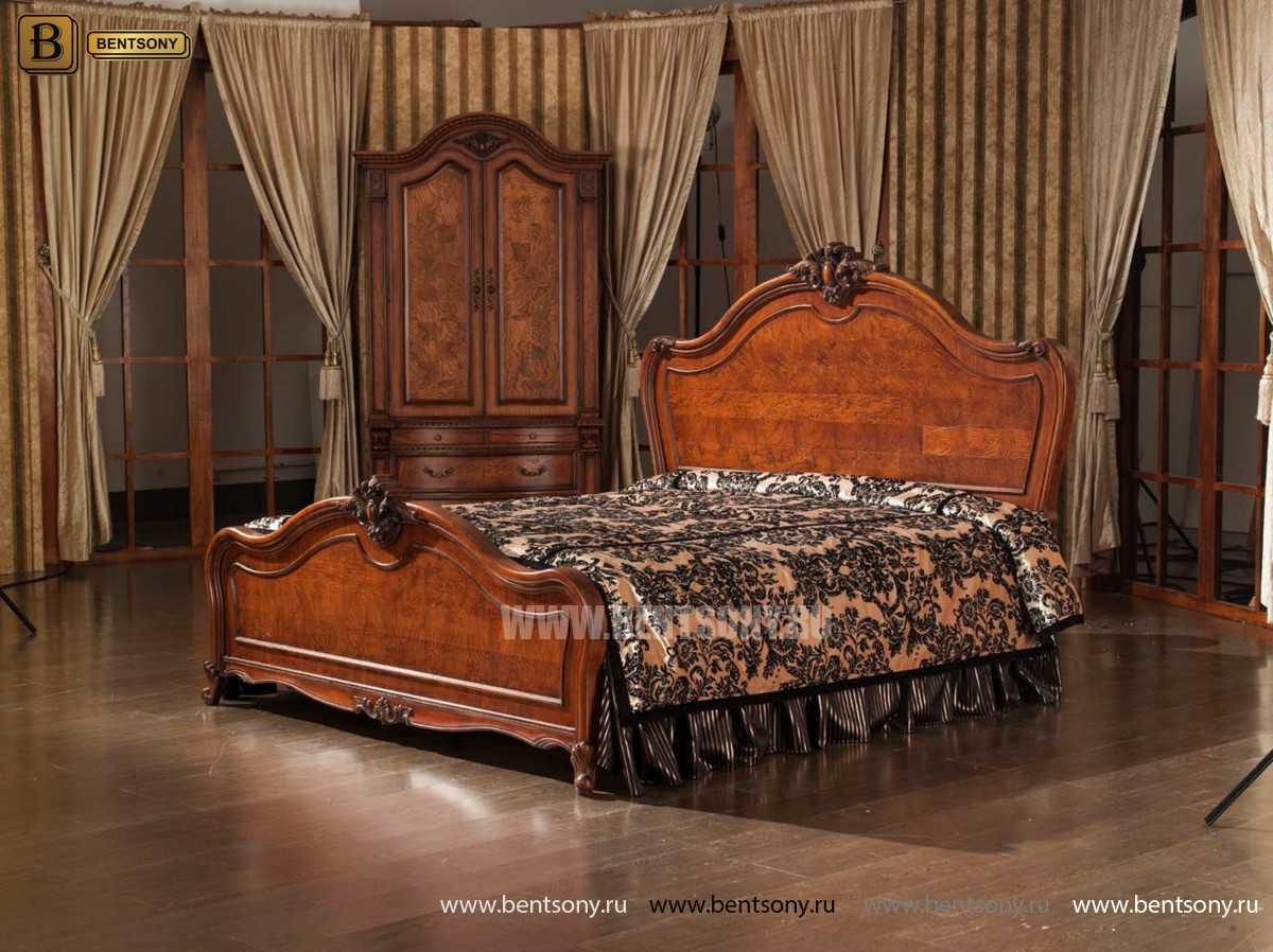 Кровать Монтана D (Классика, массив дерева) в интерьере
