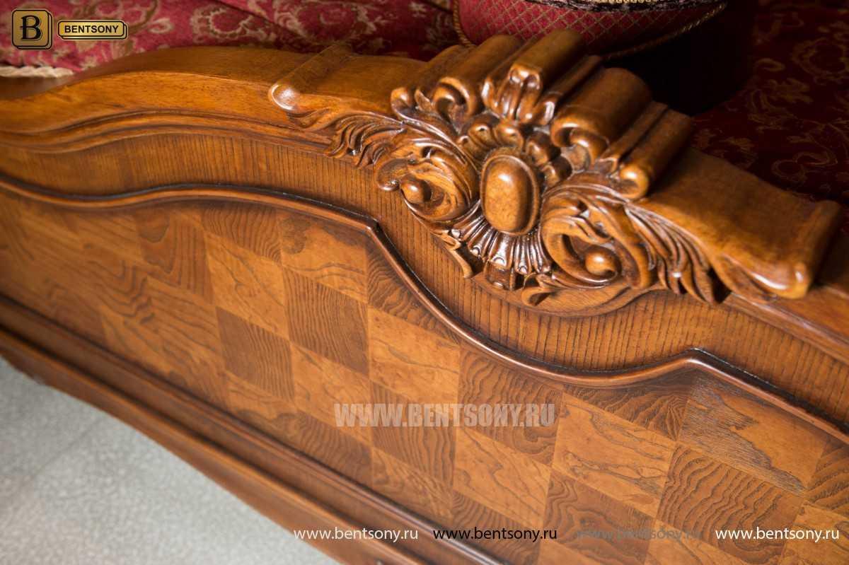 Кровать Монтана D (Классика, массив дерева) для загородного дома