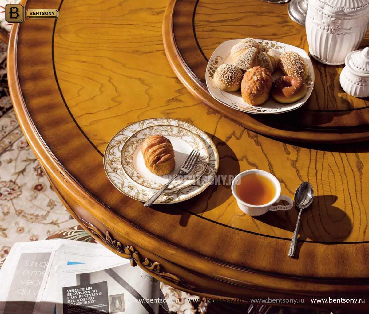 Обеденный стол Дакота А (Круглый, массив дерева) купить в Москве