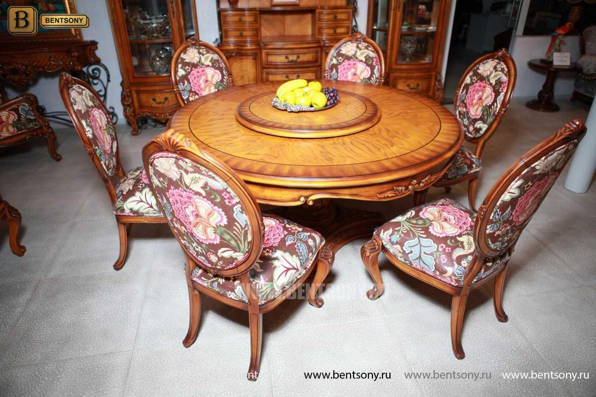 Обеденный стол Дакота А (Круглый, массив дерева) каталог мебели с ценами