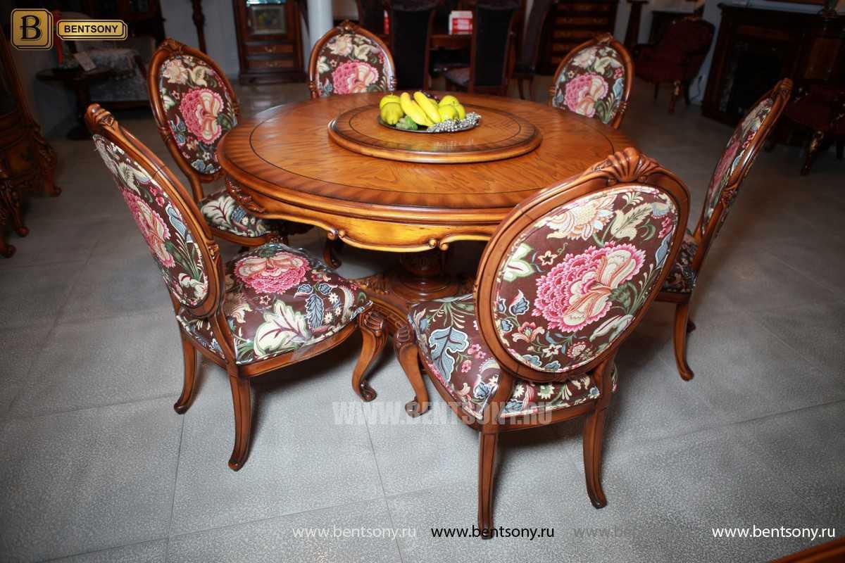 Обеденный стол Дакота А (Круглый, массив дерева) купить