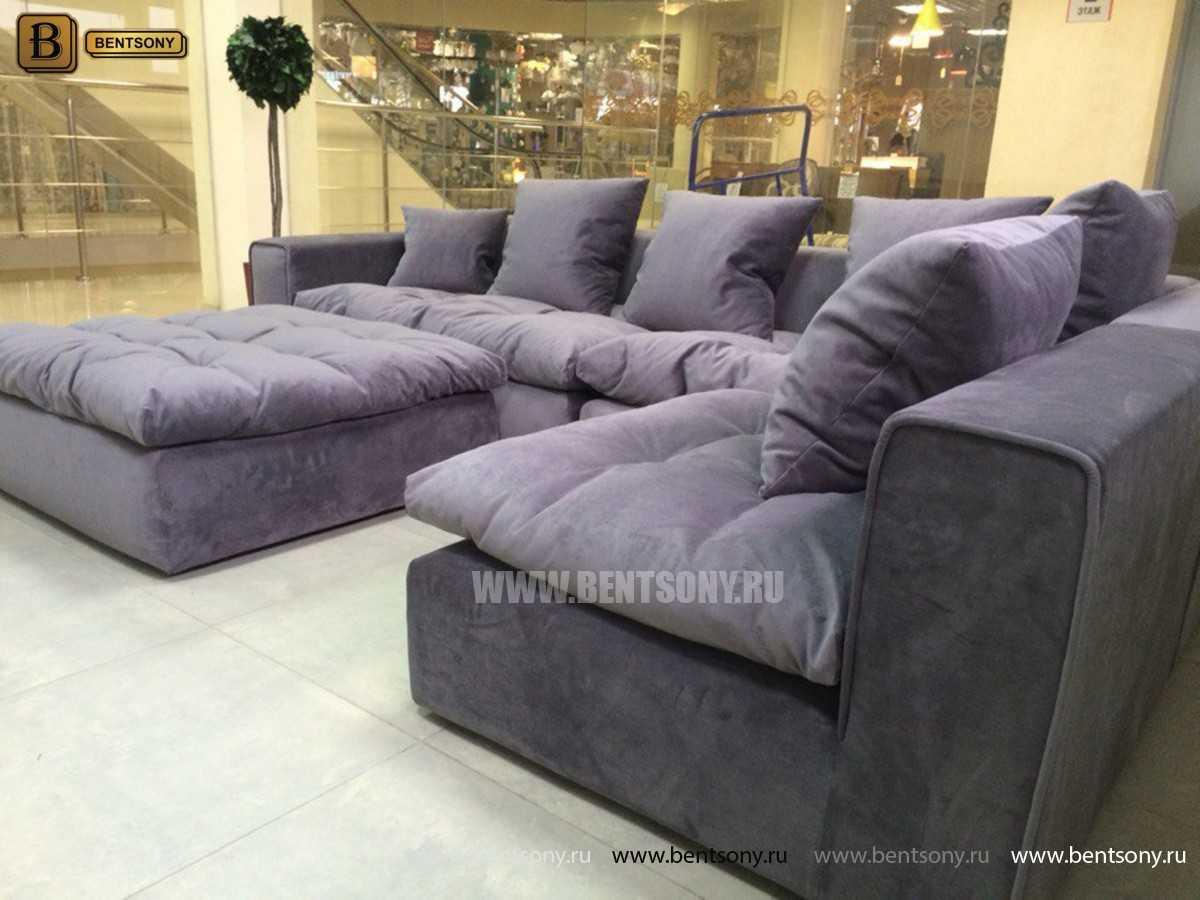 Серый модульный диван Бениамино