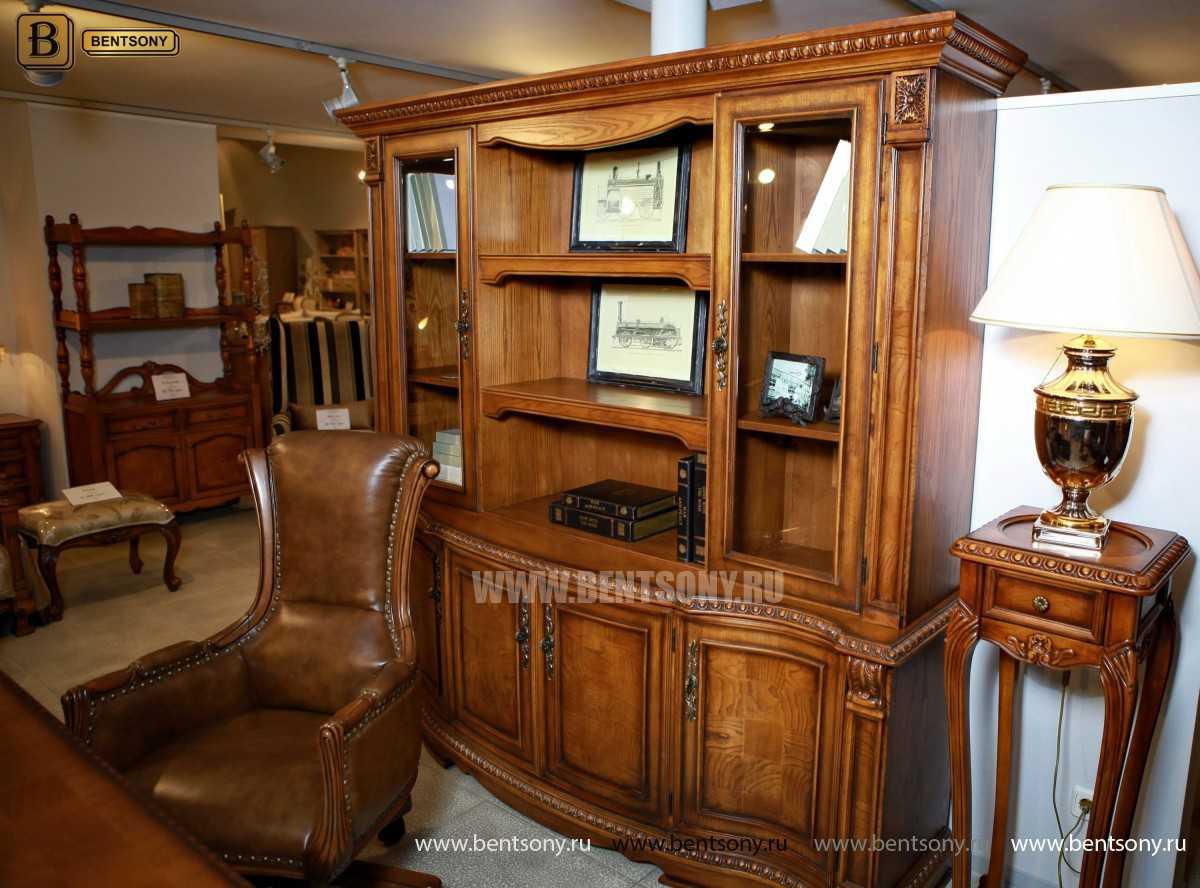 Шкаф Книжный Монтана (Прямой, массив дерева) каталог мебели