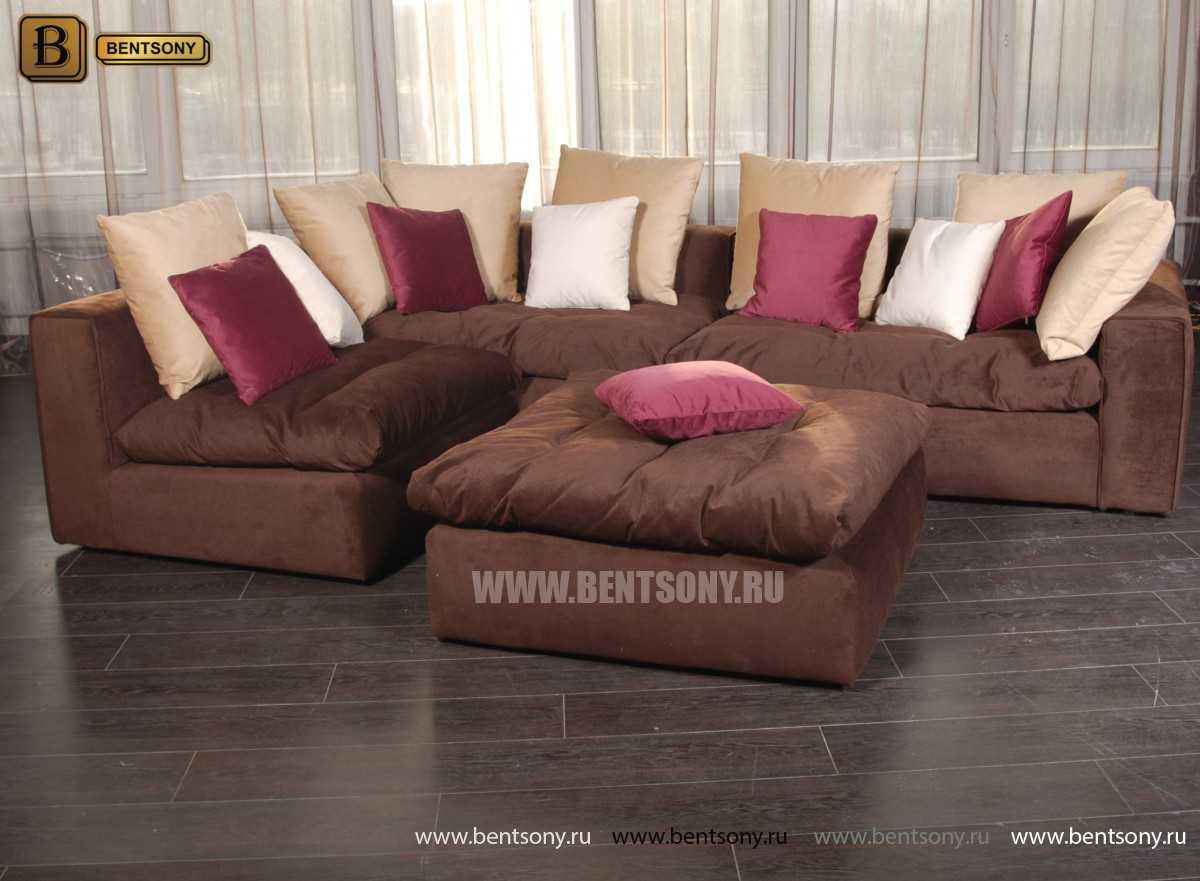 Коричневый диван Бениамино