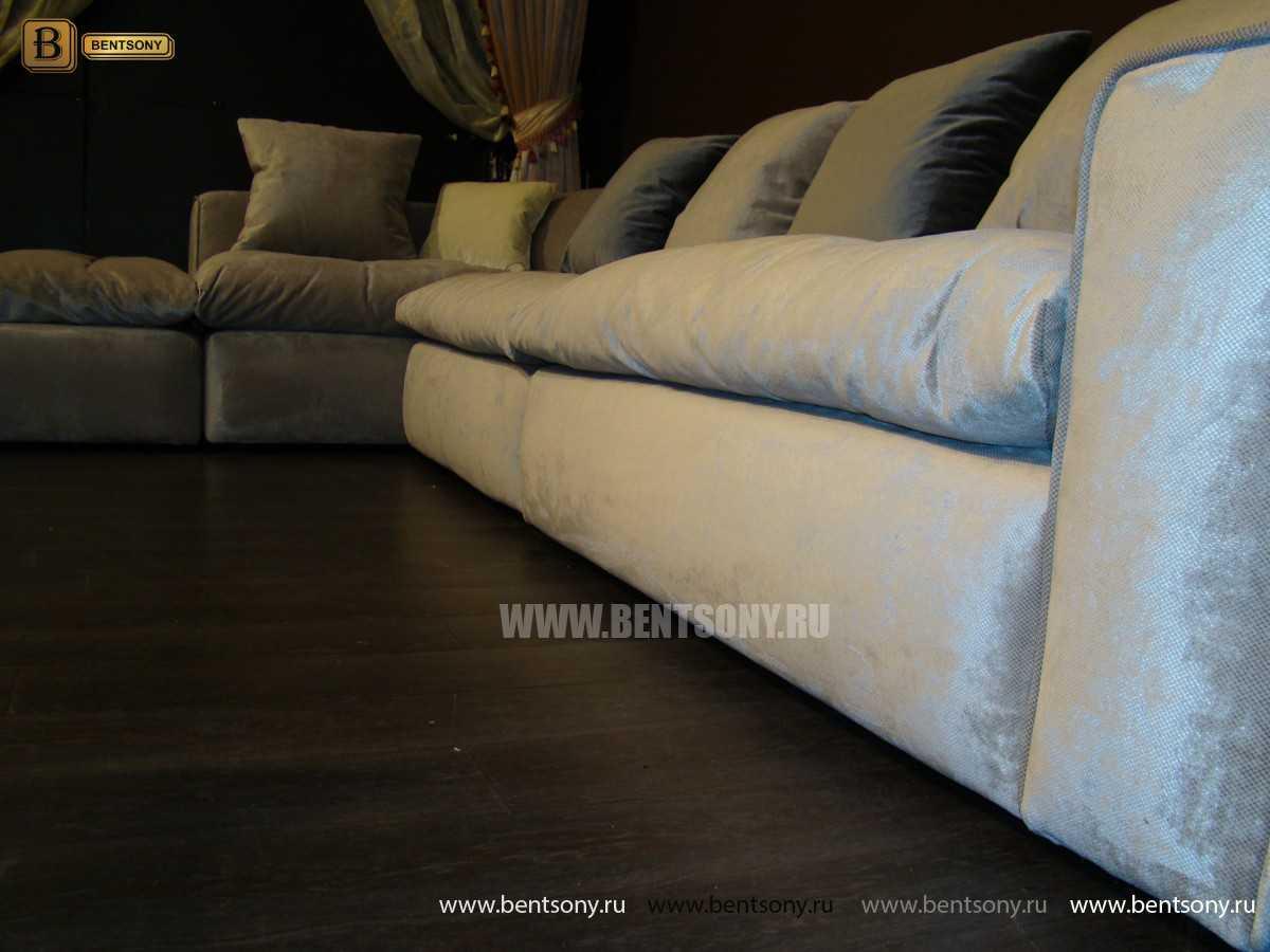Обивка дивана Бениамино велюр серый