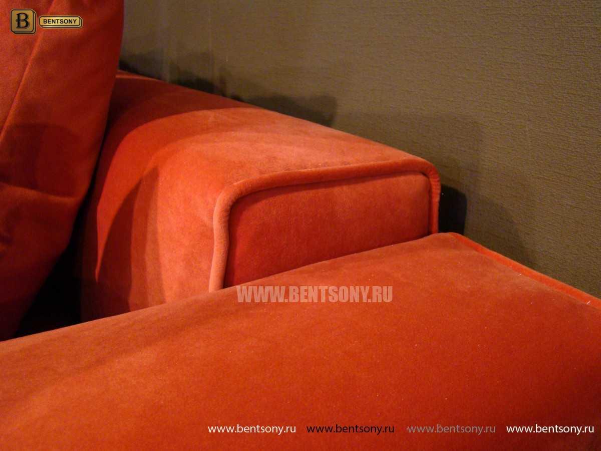 обивка дивана Бениамино велюр оранжевый
