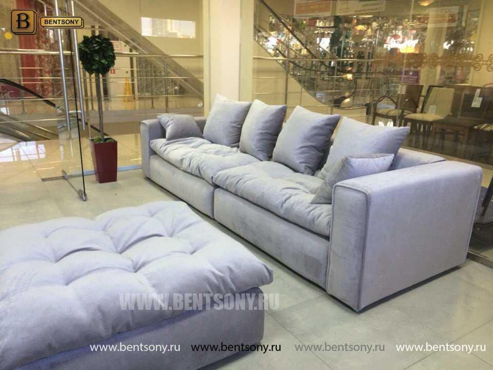Прямой диван с пуфом Бениамино