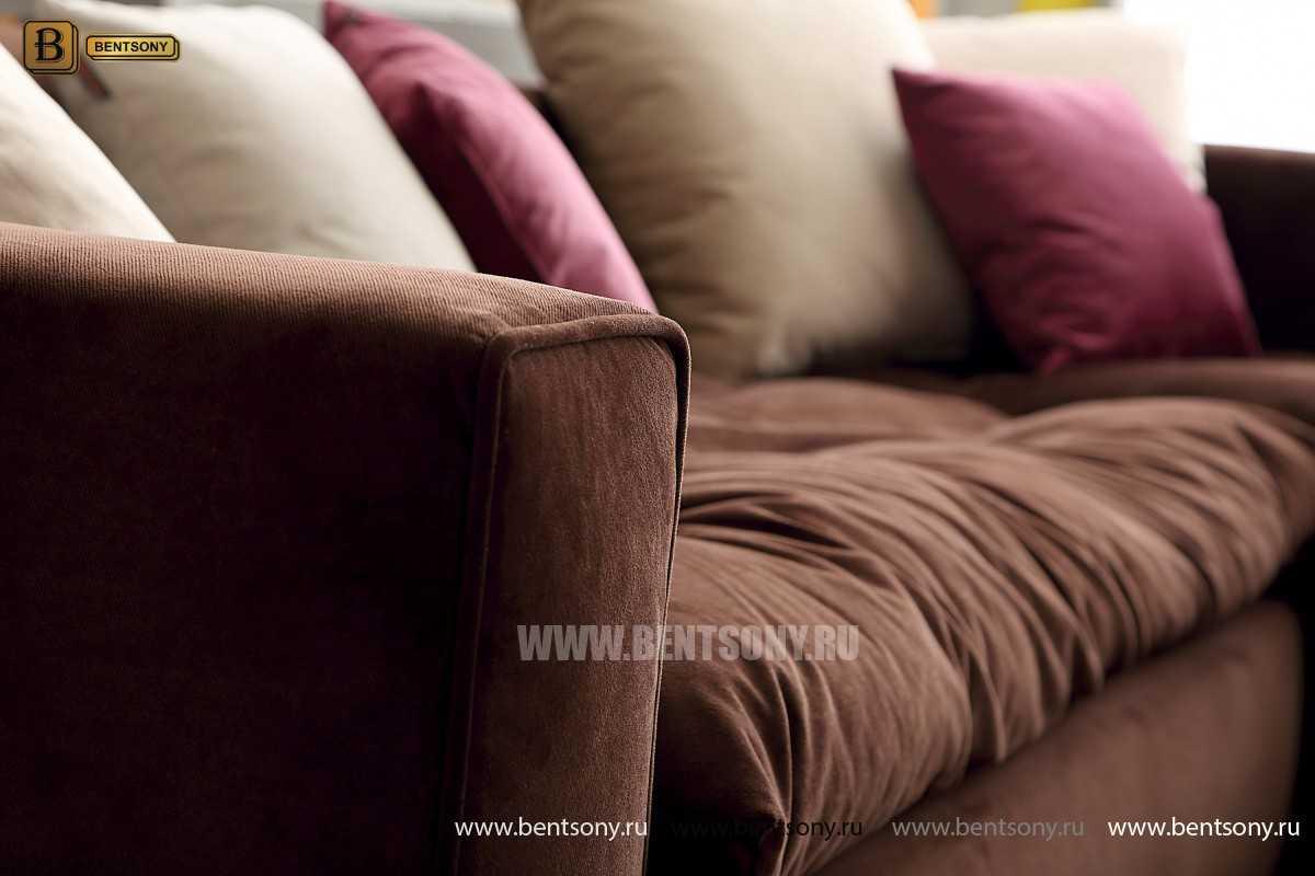 Обивка дивана Бениамино велюр коричневый