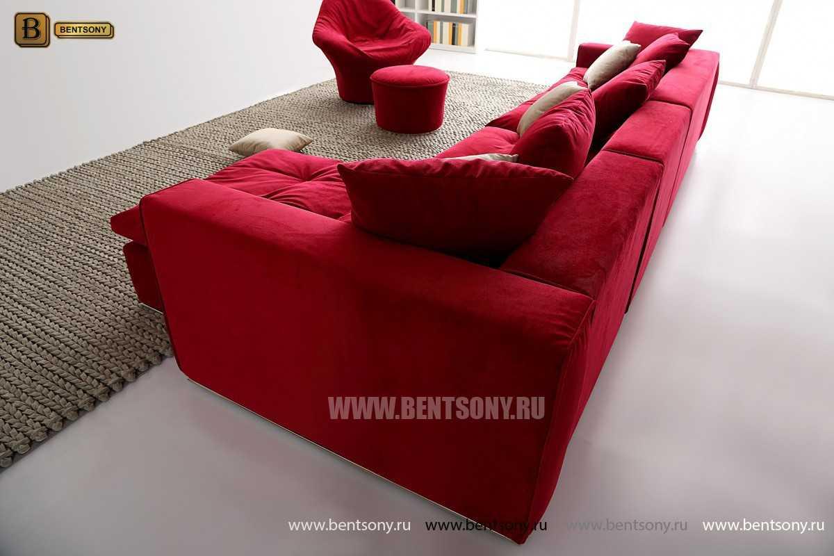 Угловой диван Бениамино красный