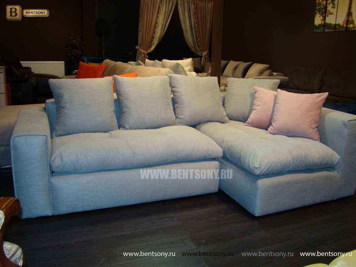 Угловой тканевый диван Бениамино фото