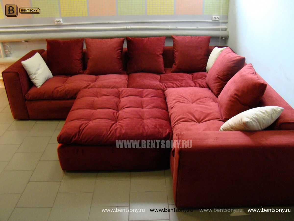 Красный модульный диван Бениамино