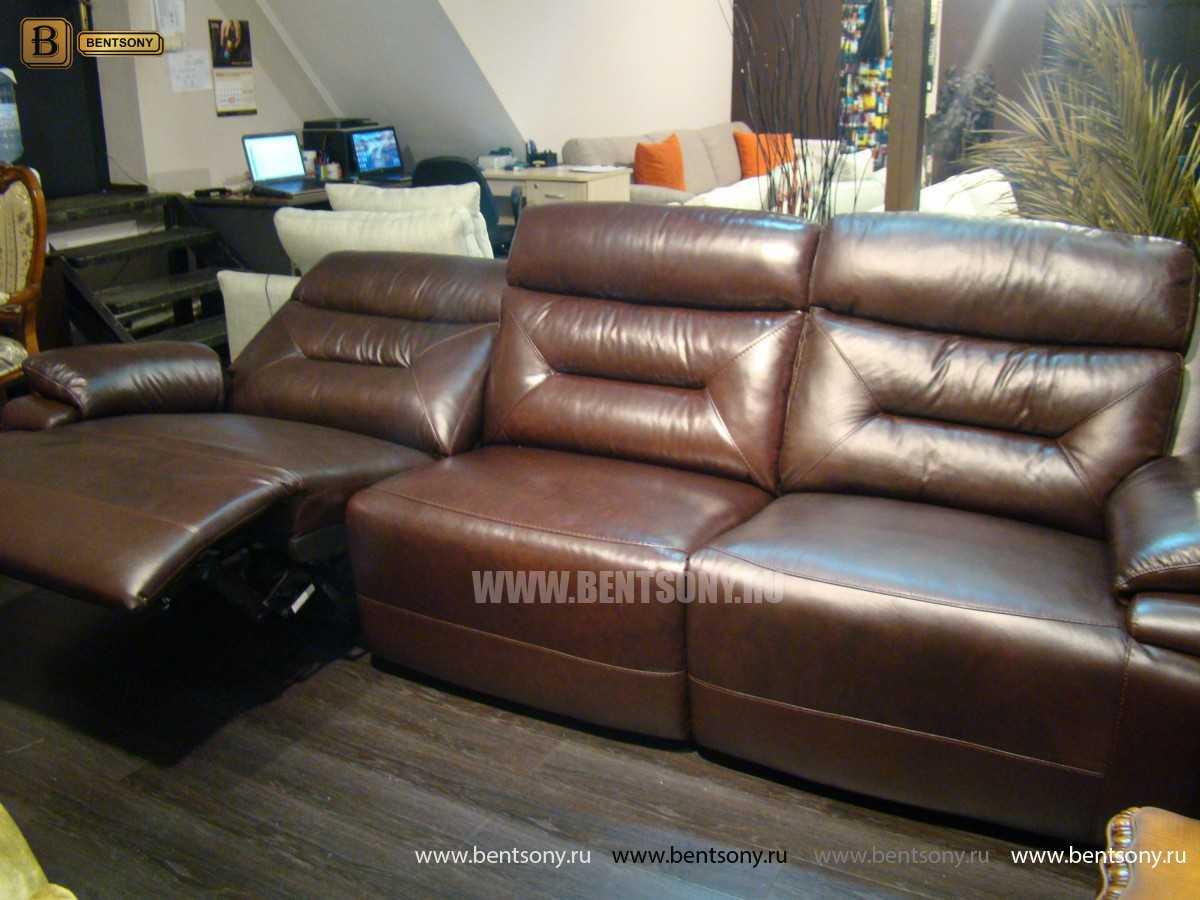 кожаный диван прямой Амелия