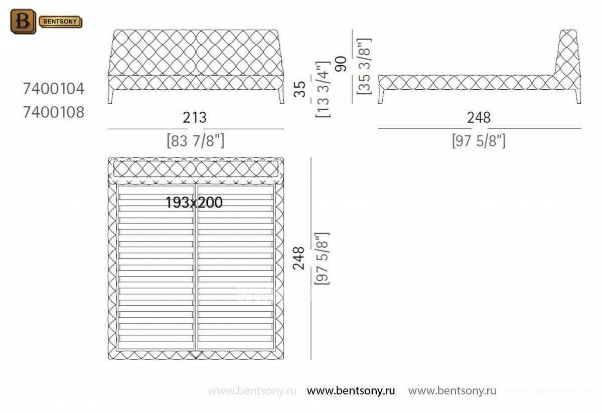 размеры кровать Скиллачи