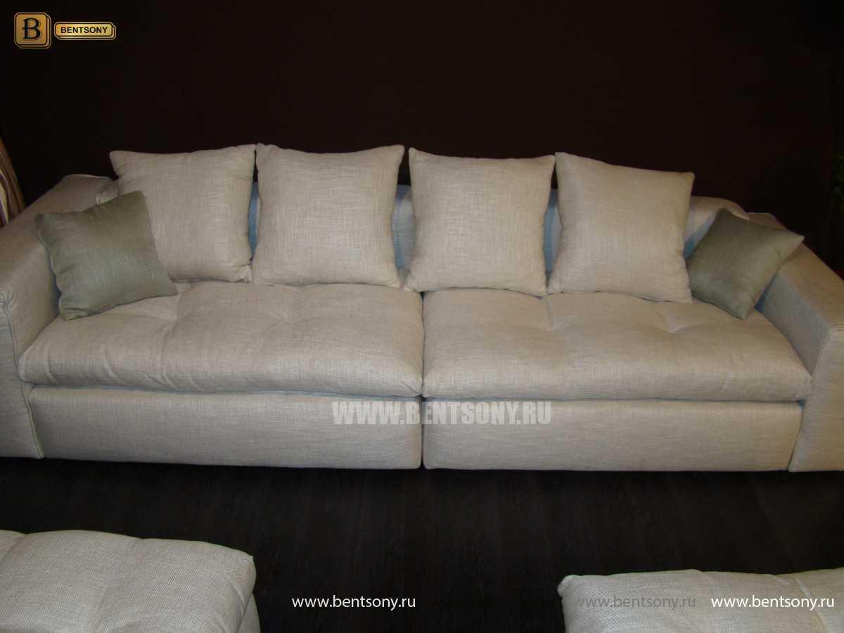Диван Бениамино прямой с подушками