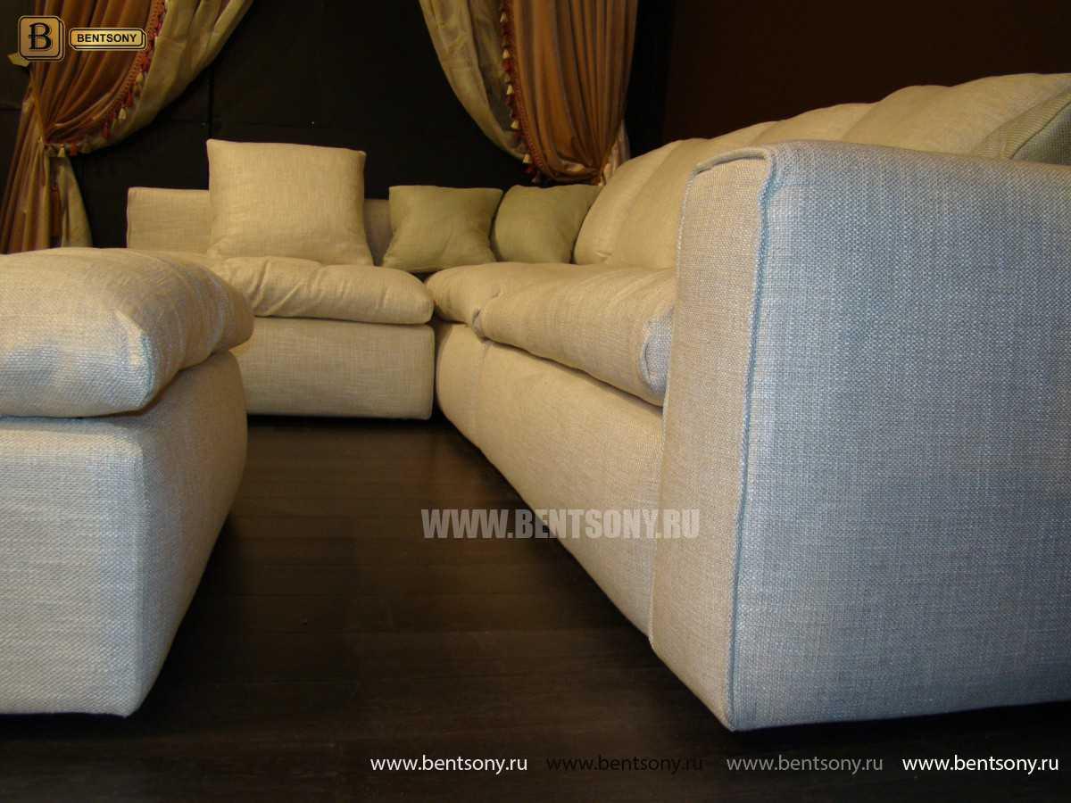 Обивка дивана Бениамино белая рогожка