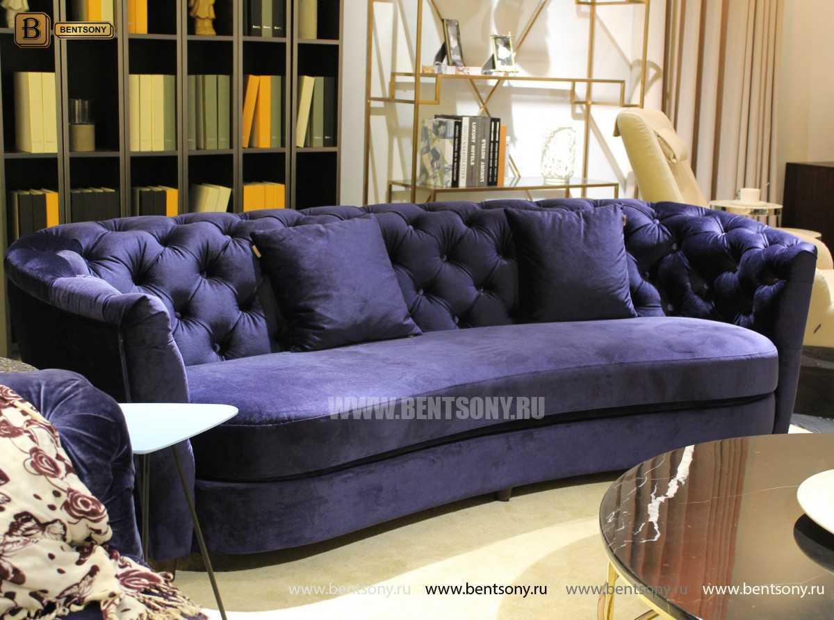 Диван Сандриго (Прямой, Велюр, Капитоне) каталог мебели с ценами