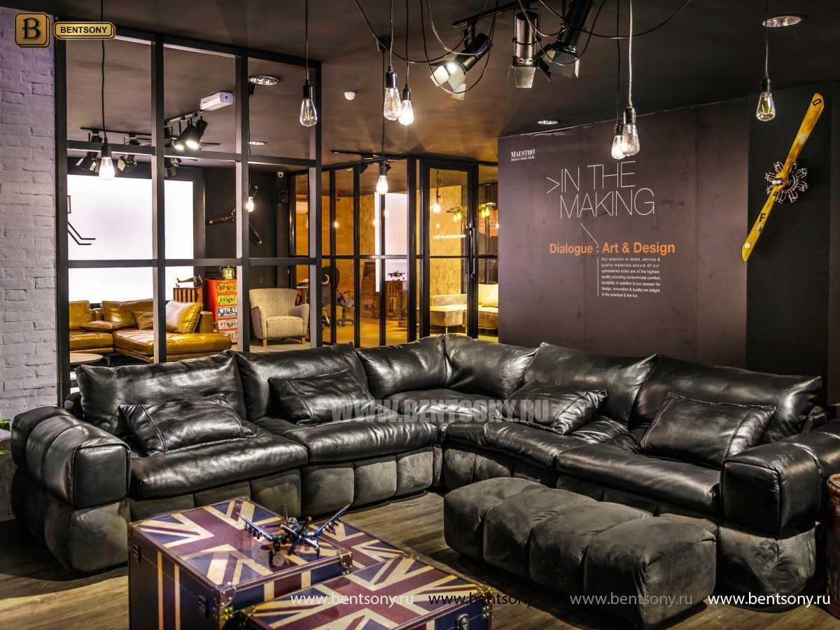 большой модульный кожаный диван Марчелло