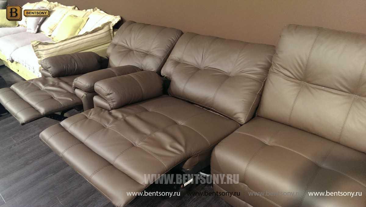 модульный диван реклайнер Дексус кожа