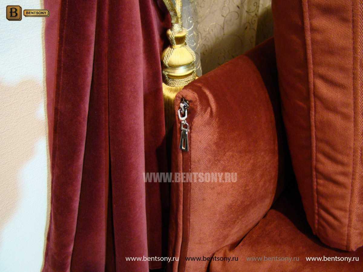 обивка дивана велюр красный