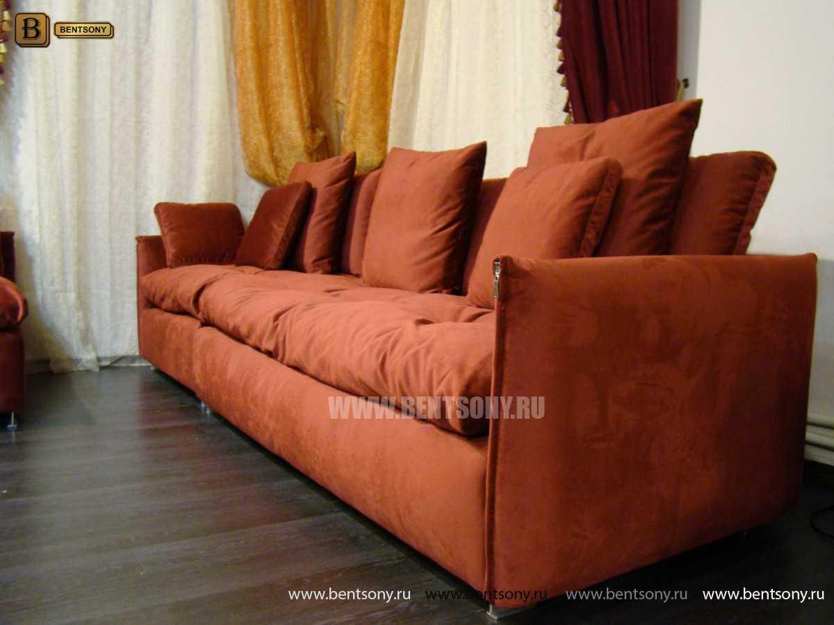 купить прямой диван красный