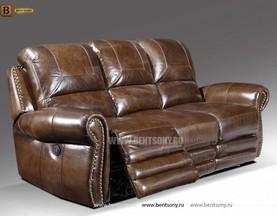 Диван Денвер (Реклайнеры, VIP Натуральная Кожа) каталог мебели