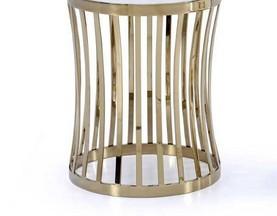 Стол Приставной для гостиной (Круглый, Мраморная столешница) изображение