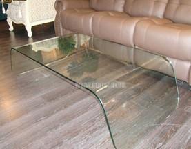Стол Журнальный (Гнутое прозрачное стекло) цена
