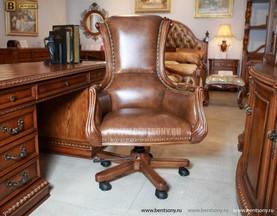 Кресло Кабинетное Монтана (Натуральная кожа)  каталог мебели