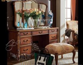 Стол туалетный Лоренс В с зеркалом (Классика, массив дерева) официальный сайт цены