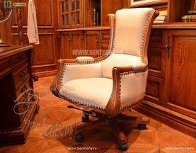 Классическое Кресло Кабинетное Монтана (Натуральная кожа)  купить в Москве