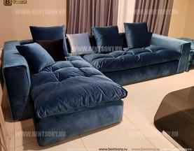 Диван Бениамино с Шезлонгом (Велюр) каталог мебели с ценами