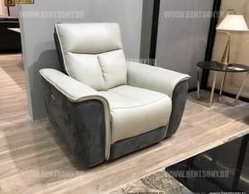 Кресло Дарио (Реклайнер, Натуральная Кожа, Алькантара) купить