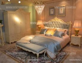 Кровать Митчел А (Классика, Ткань, Белый цвет с патиной) купить в СПб