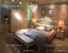 Спальня Митчел А (Классика, Ткань, Белый цвет) для загородного дома