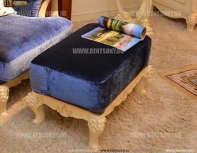 Кресло для отдыха Митчел с подушкой, Пуф (Классика, Ткань) для квартиры
