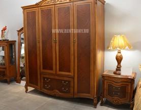 Шкаф 4-х дверный Флетчер (Массив дерева, Классика) для дома