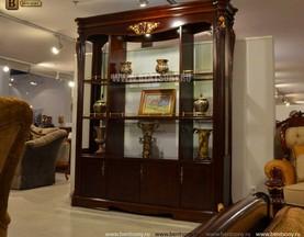Витрина классическая двухсторонняя Вагнер (Массив дерева) купить в СПб