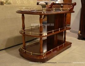 Сервировочный столик Вагнер (Классика, массив дерева) для загородного дома