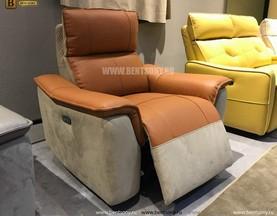 Кресло Либеро (Реклайнер, Натуральная Кожа, Алькантара) в Москве