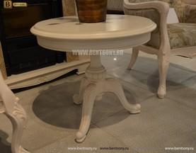 Стол журнальный круглый Флетчер-W(Классика, массив дерева) сайт цены