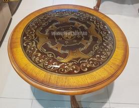 Стол журнальный круглый Феникс В (цветное стекло) каталог