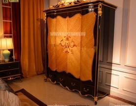 Шкаф 4-х дверный Конкорд (Массив дерева, Классика) изображение