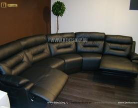 Диван Амелия угловой (Натуральная кожа, пять модулей) для квартиры