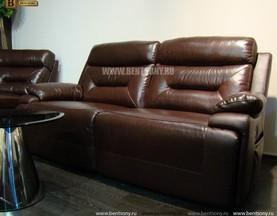 Двойной Диван Амелия (Натуральная Кожа) каталог мебели с ценами