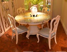 Столовая Митчел с круглым столом (Классика, мраморная столешница) распродажа